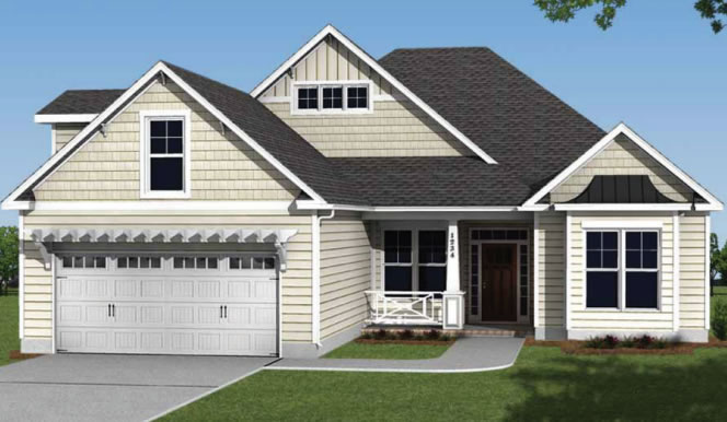 The Ansley Floor Plan: Compass Pointe